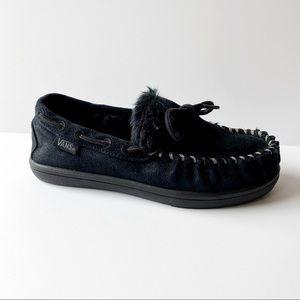 Vans Moccasins Slippers Slip On Black Size 2